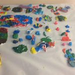 painted Clay play space for insects