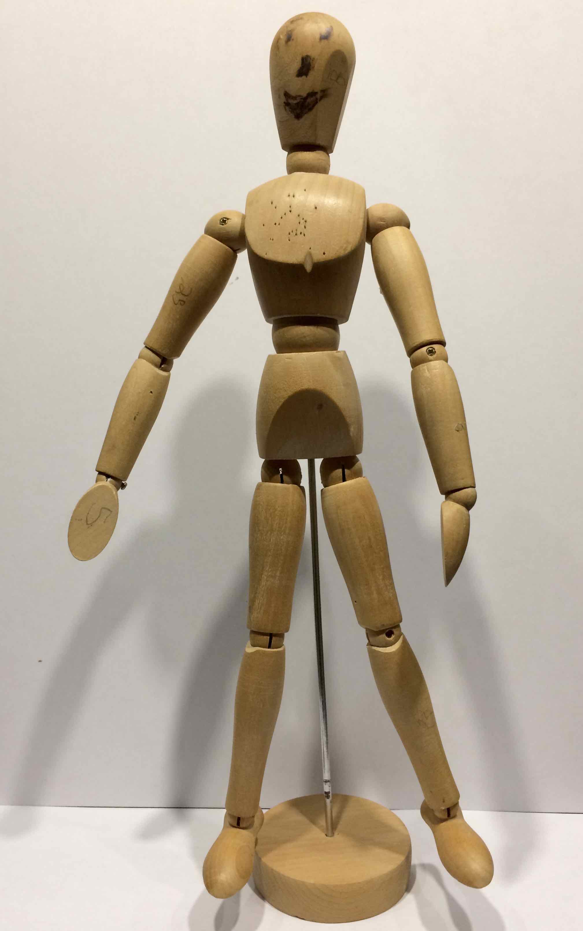 I introduced this wooden mannequin to the children - who named him POSER we used him to help us see the important point over the body where we bend.